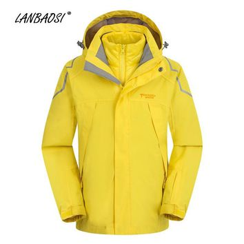 Winter Kids Boys Windbreaker 3in1 Hooded Jackets Coat Cotton Liner Child Outdoor Sports Hiking Camping Climbing Skiing Sportwear