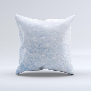 Sparkly Snow Texture  Ink-Fuzed Decorative Throw Pillow