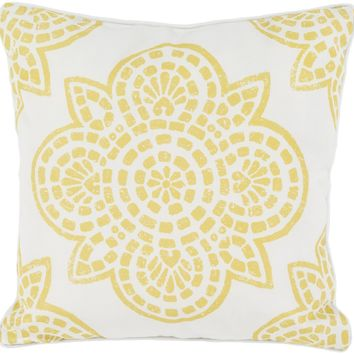 Hemma Throw Pillow Yellow, Neutral
