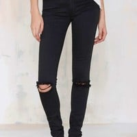 RES Denim Trashqueen Skinny Jean - Distressed Black
