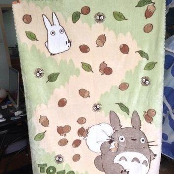 Studio Ghibli My Neighbor Totoro Studio Soft Blanket Single Japan Import