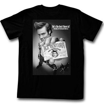 Ace Ventura T-Shirt Pet Detective Black & White Poster Tee