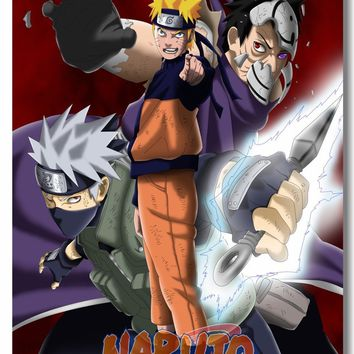 Naruto Sasauke ninja Custom Canvas Wall Decals Uzumaki  Poster Hatake Kakashi Wallpaper Japan Anime Sticker Mural Kids Room Decoration #0018# AT_81_8