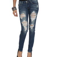 Destroyed Skinny Jean | Shop Jeans at Wet Seal