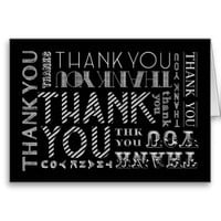 Thank You Chalk Typography Card (Color Options)