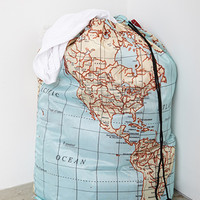 World Map Laundry Bag