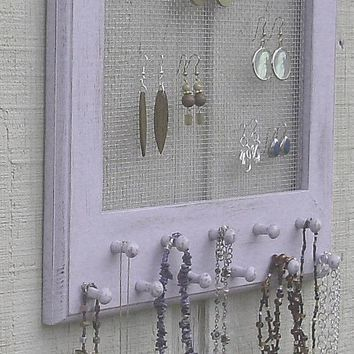 Shabby Chic Jewelry Display Frame in by oakstudiosofdesign on Etsy