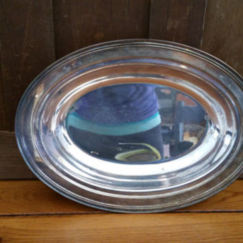 Vintage Crescent Silverplate Ornate Tray Platter Serving Dish Bowl Perfect for Entertaining