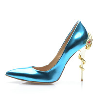 Women's Ladies Designer Leather Zara/Revolve Style 2016 New Summer Women Sandal Causal Fashion  women's pattern leather high heeled shoes = 4635423876