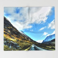 Road Throw Blanket by Haroulita | Society6