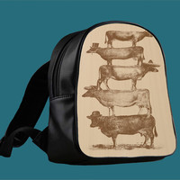 Cow Cow Nuts for Backpack / Custom Bag / School Bag / Children Bag / Custom School Bag ***