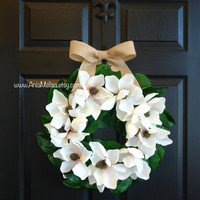 Christmas wreaths wedding wreaths white magnolia wreath front decorations front door wreaths outdoor decorations