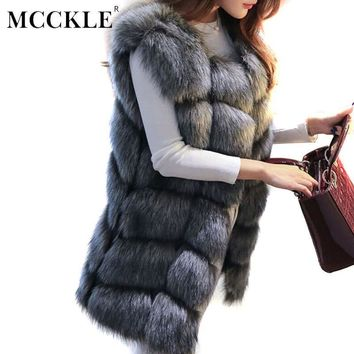 Women's Faux Fur Coat Vest