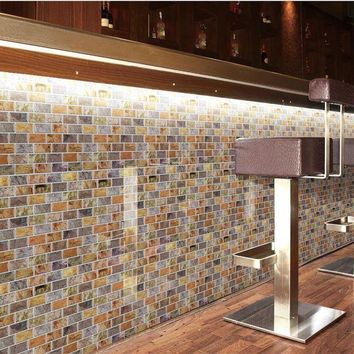 ONETOW Peel and Stick Tiles Kitchen Backsplash Tile 12''x12'' Resin 3D Wall Sticker Wall Paper 10 Tiles/ pack