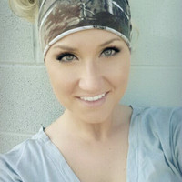 YOGA stretch Realtree Camo headband, stretch cotton twist headband camouflage