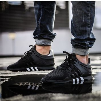 adidas EQT Support ADV Trainers Shoes Equipment NMD Y3 Black White 7