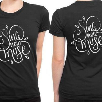 MDIG1GW Muse Sing Now Muse Typhography 2 Sided Womens T Shirt