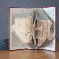 Folded Book Art- Book Lovers-Drama Masks-Theater-Home Decor
