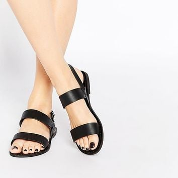 Park Lane | Park Lane Strap Flat Sandals at ASOS