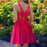 Take A Bow Coral Dress-$80