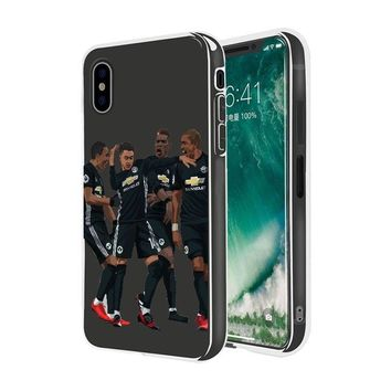 Case Cover For Iphone 5 6 7 8 Plus X 10 Manchester United Football Player Soccer