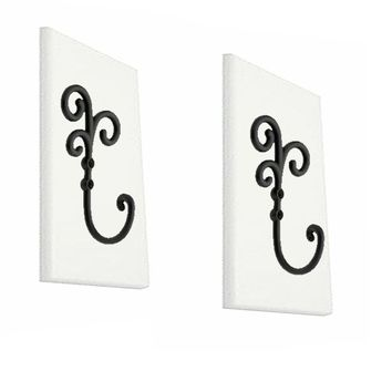 His and Hers Towel Hook Set