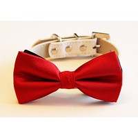Red Dog Bow tie Wedding collar