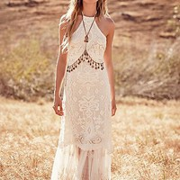 Spell & the Gypsy Collective x Free People Womens Casablanca Lace Halter Gown