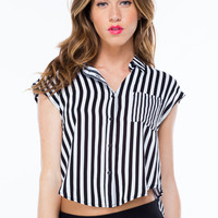 Stay High-Low Striped Top