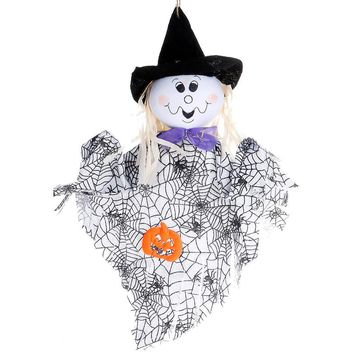 Hanging Halloween Ghost Spook Pumpkin Fly Witch Scarecrow Doll Foldable Decor