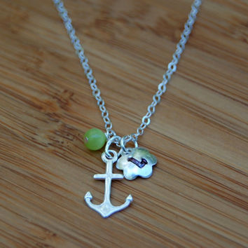 Anchor charm necklace, Graduation necklace, Charm necklace, simple necklace,Wedding jewelry, Cute necklace,BFF necklaces