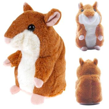 Talking Recording Hamster Educational Plush Toy Cute Baby Electronic Pets Plush Dolls Sound Record Speaking Hamster Talking Toy