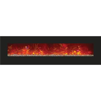 Amantii Built-in / Wall Mounted Electric Fireplace (Enhanced, WM‐BI‐72‐8123)
