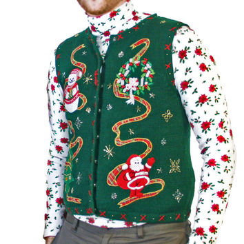 beaded nirvana ugly christmas sweater vest the ugly sweater shop