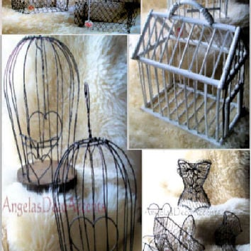 Vintage Commercial Supplies, U Pick Starts at 8.50 USD, Chic Gift Containers, Wire Novelties, Bird Cages, Custom Arrangements, Metal Baskets