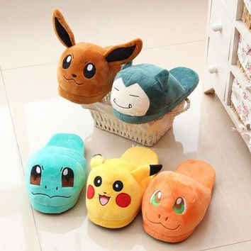 ONETOW Shoes Woman Anime Cartoon Pokemon Slippers Elf Ball Pikachu Eevee Umbreon Pokemon Plus