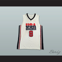 Scottie Pippen 8 USA Team Home Basketball Jersey