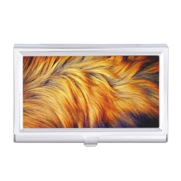 Cool horse tail fur texture trendy design case for business cards