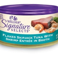 Wellness Signature Selects Flaked Tuna & Shrimp Cat Food 24/5.3 oz