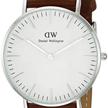 Daniel Wellington Women's 0607DW St. Mawes Watch with Brown Leather Band