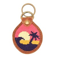 Sunset Surfing Needlepoint Key Fob by Smathers & Branson