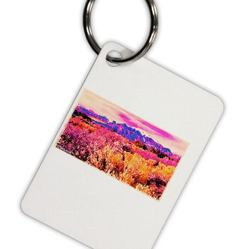 Colorful Colorado Mountains Aluminum Keyring Tag by TooLoud