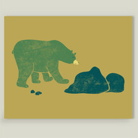 Bear Walks Art Print by welldesigned on BoomBoomPrints