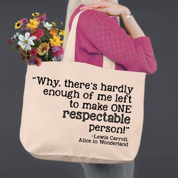Respectable Person | Alice In Wonderland | Canvas Tote Bag
