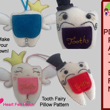 Tooth Fairy Pillow PDF Pattern Download HeartFelt