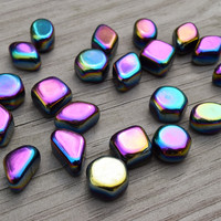 RAINBOW HEMATITE Bright Future Stone - Balance Aura, Raise Your Vibration, Manifest Abundance