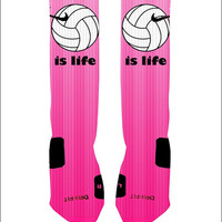 Volleyball Socks Volleyball is Life Custom Socks Custom Nike Elite Socks