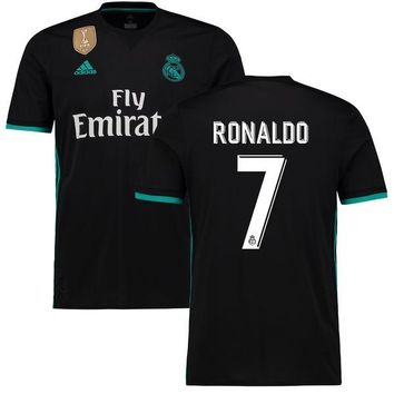 Ronaldo Real Madrid Black 2017/18 Away Replica Patch Jersey