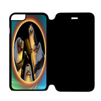 Penguins of Madagascar Say Hello iPhone 6 Plus Flip Case Cover