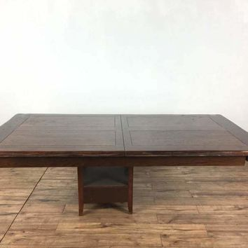 Pottery Barn Oak Dining Table